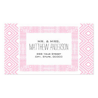Just Married - Ethnic Boho-chic Calling Card #1 Business Card