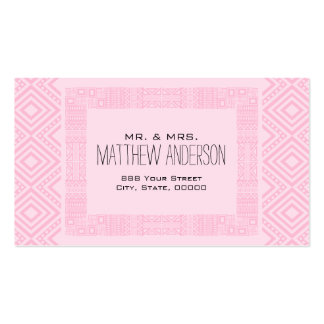 Just Married - Ethnic Boho-chic Calling Card #2 Business Cards