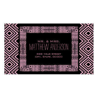 Just Married - Ethnic Boho-chic Calling Card #3 Business Card Template