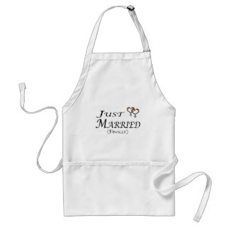 Just Married (Finally) Lesbian Pride Standard Apron