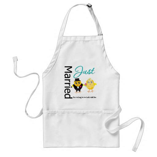 Just Married For As Long As We Both Shall Live Aprons