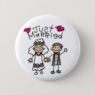 Just Married Gifts Newlywed Gifts Honeymoon Gifts 6 Cm Round Badge