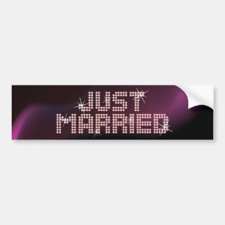 Just Married Glamor bumper sticker
