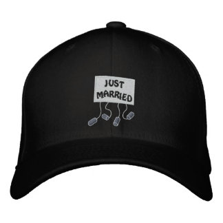 Just Married Groom Customizable Funny Wedding Embroidered Hat