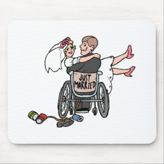 Just Married (Groom Wheelchair) Mousepad