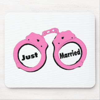 Just Married Handcuffs Mouse Pad