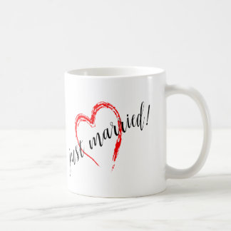 Just Married Heart Coffee Mug