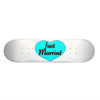 Just Married Heart Skate Decks