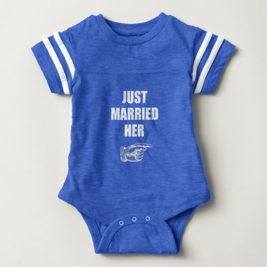 Just Married Her Baby Bodysuit