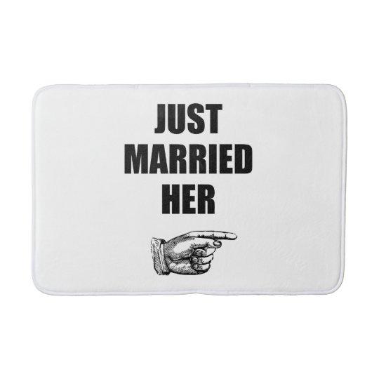 Just Married Her Bath Mat
