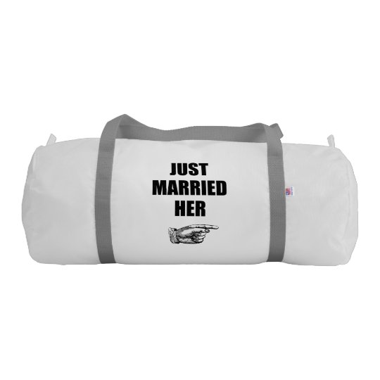 Just Married Her Gym Duffel Bag