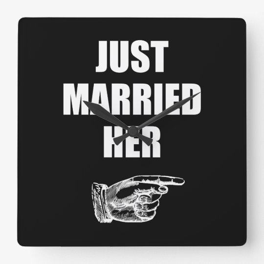 Just Married Her Wall Clock