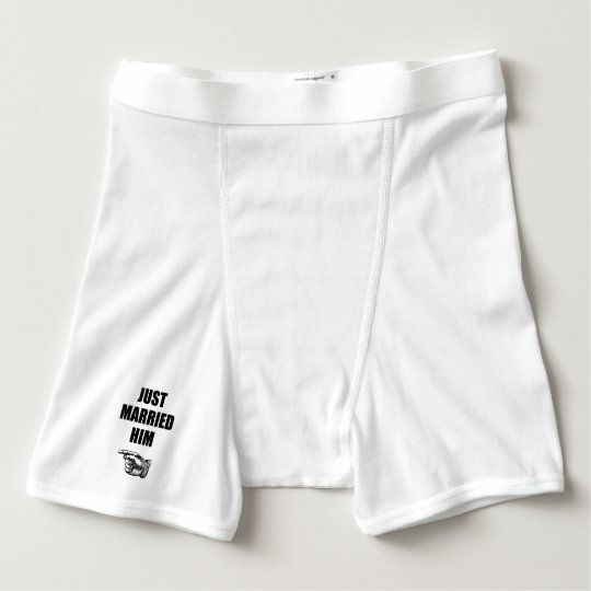 Just Married Him Boxer Briefs