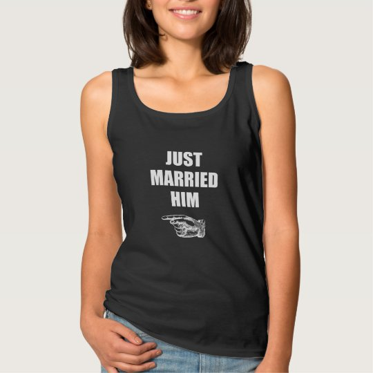 Just Married Him Singlet