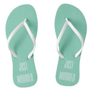 55b8b12b0100c Just Married Honeymoon Sandals Flip Flops Gift