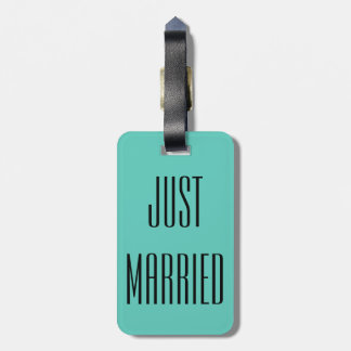 Just Married Honeymoon Wedding Luggage Tag Gift