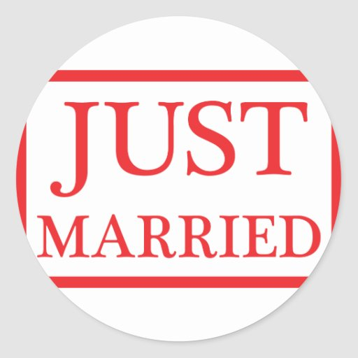 just married icon sticker