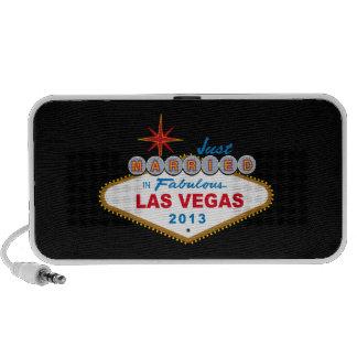 Just Married In Fabulous Las Vegas 2013 Sign Portable Speaker
