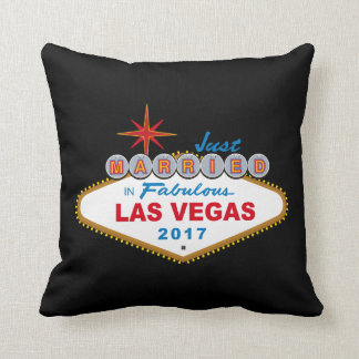 Just Married In Fabulous Las Vegas 2017 (Sign) Cushion