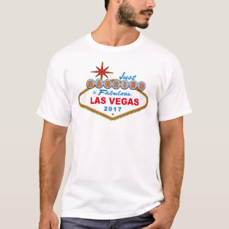Just Married In Fabulous Las Vegas 2017 (Sign) T-Shirt
