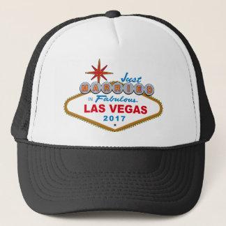 Just Married In Fabulous Las Vegas 2017 (Sign) Trucker Hat