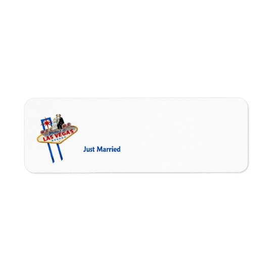 Just Married in Las Vegas Label Return Address Label