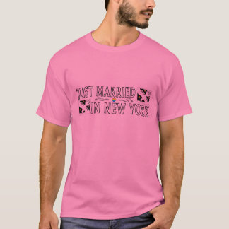 Just Married In New York (Gay Marriage) T-Shirt