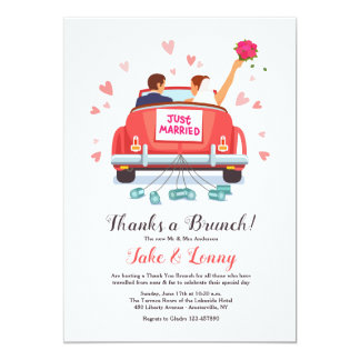 Just Married Invitation