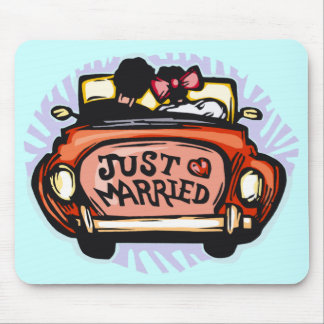 Just Married Jalopy Mouse Pad