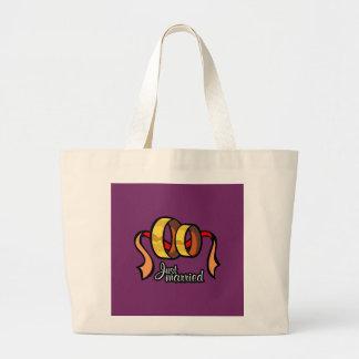 Just Married Jumbo Tote Bag