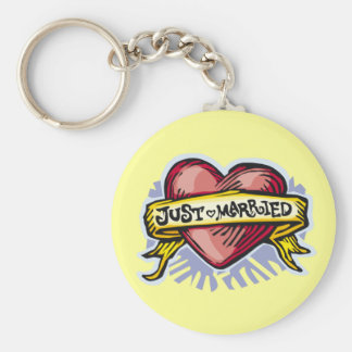 Just Married Key Ring