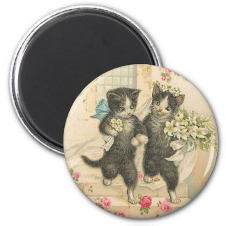 Just Married Kitty Cats Magnet