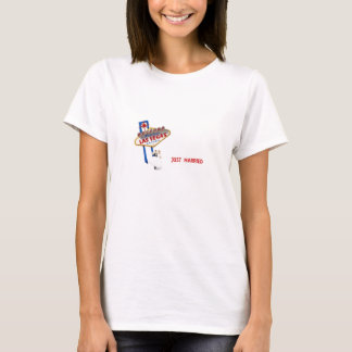JUST MARRIED Las Vegas Bride & Groom Baby Doll T T-Shirt