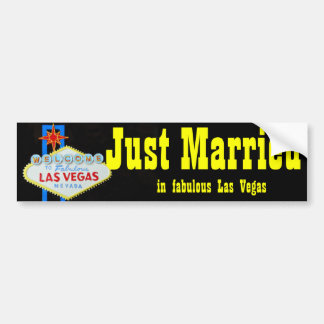 Just Married Las Vegas Welcome Sign Bumper Stickers