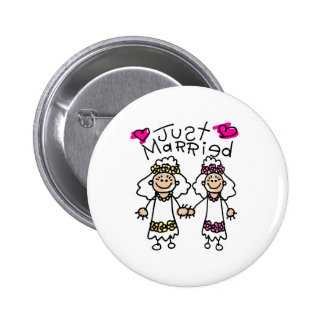 Just Married Lesbians 6 Cm Round Badge