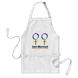 Just Married Lesbians Apron