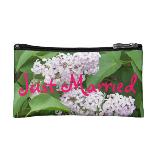 Just Married Lilac Bag Makeup Bags