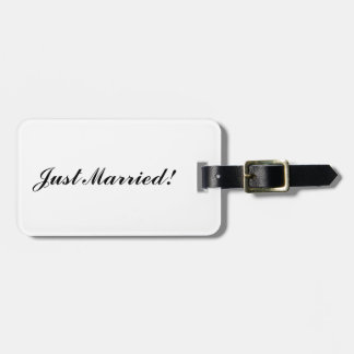 """""""Just Married"""" Luggage Tag"""