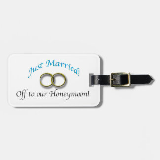 Just Married Luggage Tag
