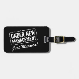 Just married luggage tag | Under new management