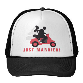 just married more scooter cap