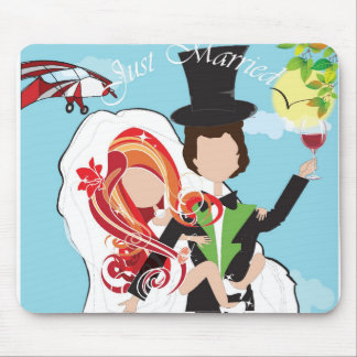 Just married! mouse pad