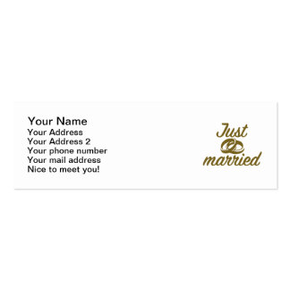 Just married pack of skinny business cards
