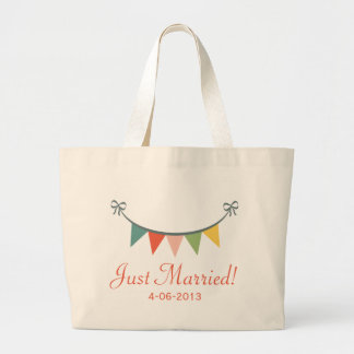 Just Married Personalised Tote Bag