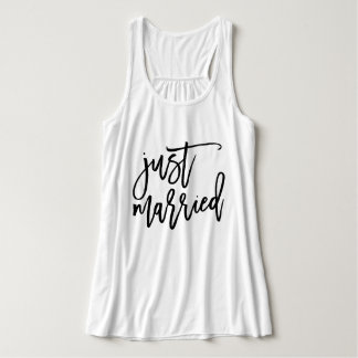 Just Married Personalized Typography Singlet