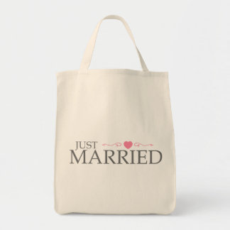Just Married (Pink Heart Scroll) Bag