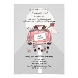 Just Married Post Wedding Brunch Invitation - Grey