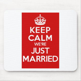 Just Married Red Mouse Pad