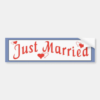 Just Married red sticker