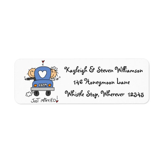Just Married Return Address Label